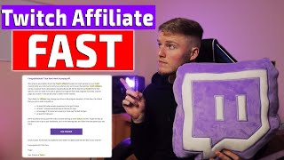 How to Get TWITCH AFFILIATE FAST 2020 (What I Wish I Knew)