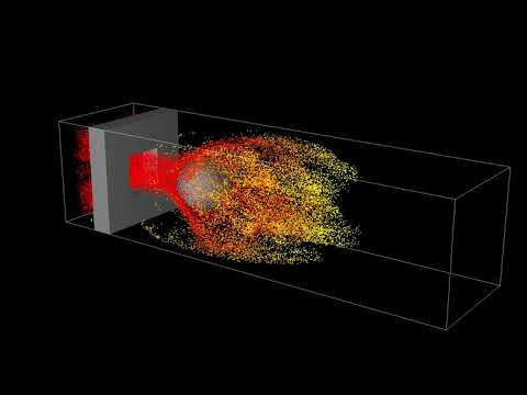 Particles around a ball