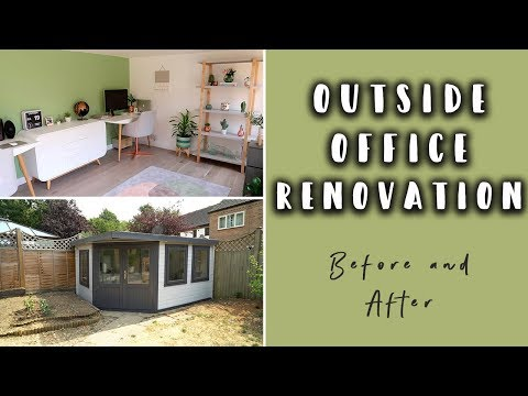 OUR GARDEN HOME OFFICE RENOVATION (BEFORE AND AFTER)