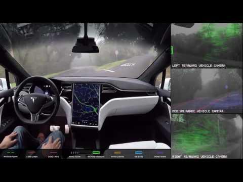 Čo vidí Tesla, keď jazdí v autonómnom režime? Riadi bez pomoci človeka a dáva pozor na všetko v okolí