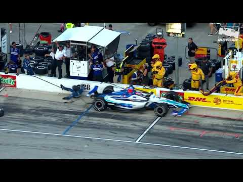 Raw Video: Takuma Sato hits his crew member at Texas