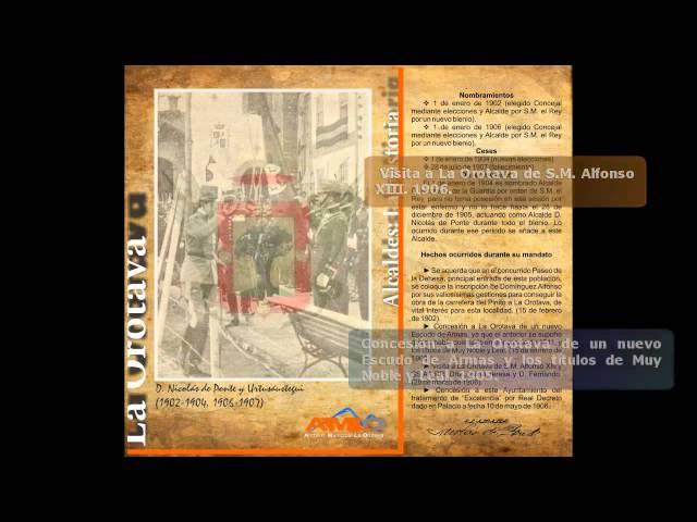LA OROTAVA INSTITUCIONAL. ALCALDES DE LA OROTAVA