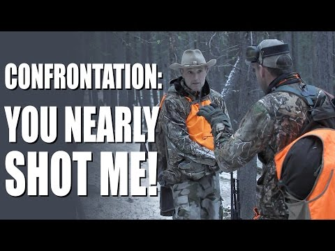 'You nearly shot me!' – confrontation