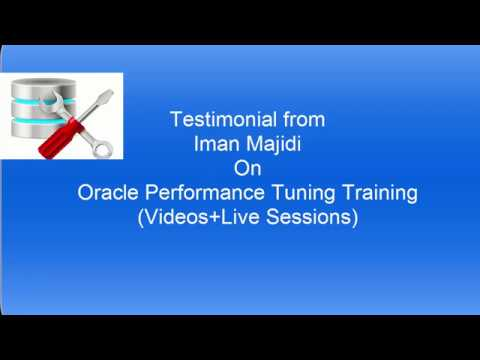 Oracle sql Optimization Training Videos Testimonial