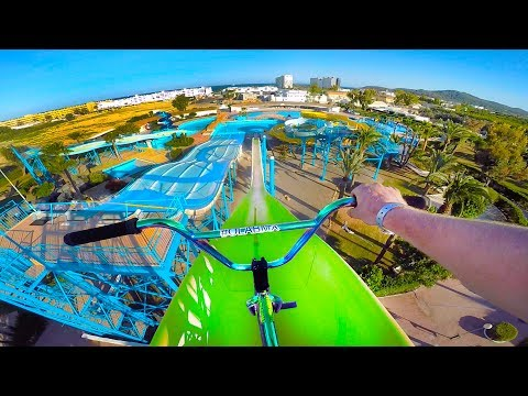 BMX RIDING AT INSANE ABANDONED WATERPARK IBIZA!