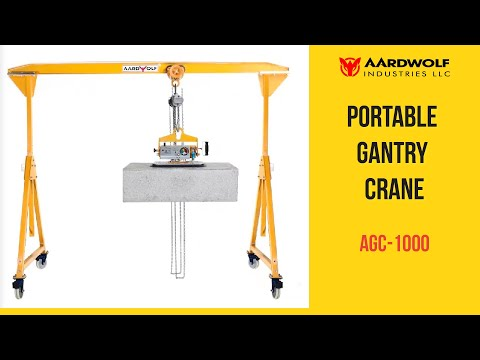 Portable Gantry Crane AGC-1000 - Video 1