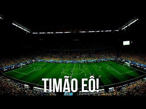 Timão na Copa - Torcedores cantam Timão EÔ na Arena Corinthians