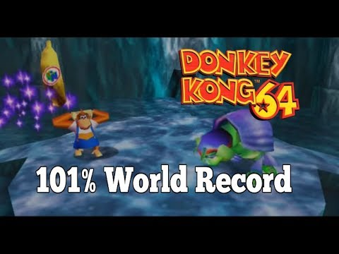 Donkey Kong 64 - 101% in 5:29:58 (Former World Record)