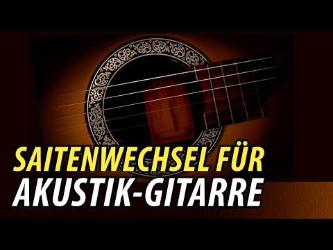 Gitarre Saiten Aufziehen & Wechseln Lehrvideo