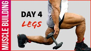 Muscle Building Workout Series - Day 4   Legs Workout   Yatinder Singh