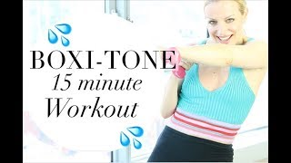 15 MINUTE BOXI-TONE WORKOUT | TRACY CAMPOLI | FAT BURNING WORKOUT by Tracy Campoli