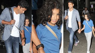 Farhan Akhtar Spotted With His Daughter At Mumbai Airport