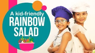 When kids fix a healthy lunch for their moms | Rainbow salad | Easy and fun recipe