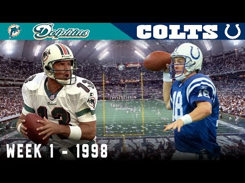 Peyton Manning's FIRST Game! (Dolphins vs. Colts, 1998) | NFL Classic Game Highlights