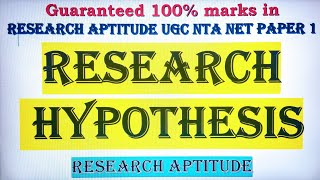 RESEARCH HYPOTHESIS MEANING PROCEDURE OF HYPOTHESIS TESTING