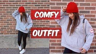 My Lazy Day Outfit, Hoodie, Black Leggings / Mi Outfit Para Días De Flojera