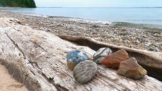 Rock Hunting Lake Michigan Near Northport