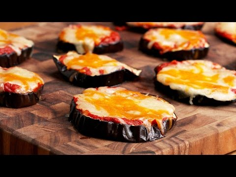Cheesy Eggplant Pizza