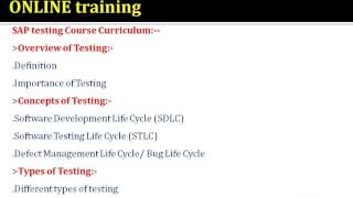 Sap TESTING Trining In CANADA@Tutorials Of Testing@UK