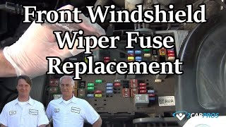 Windshield Wiper Fuse Replacement