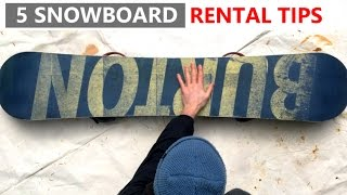 #27 Snowboard begginer – Tips for renting a snowboard