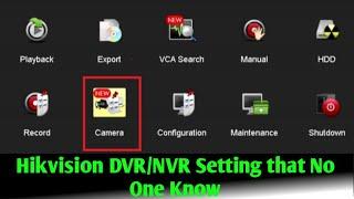 Hikvision DVR/NVR New settings by Green Tech Solutions | Hikvision Dvr Settings
