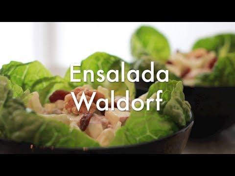 Ensalada Waldorf de Apio y Manzana - Recetas de Cocina ✅
