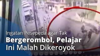 Video Detik-detik Siswa SMK di Mojokerto Dikeroyok Pesepeda, Tak Terima Diingatkan Tak Bergerombol