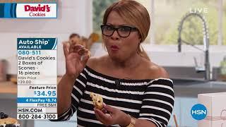 Davids Cookies 16piece Assorted Scones