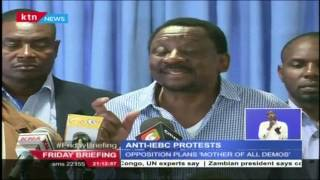 CORD wants IEBC disbanded or wait for a major demonstration on Monday