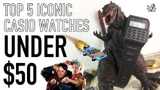 The Top 5 Most Iconic & Best Value Casio Digital Watches Under $50 - Reviews & Brief History