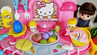 Baby doll Kitchen toys and cooking food play - ToyMong TV 토이몽