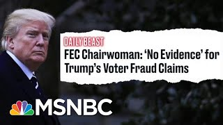 FEC Chairwomen Demolishes Trump's False 'Voter Fraud' Claim | The Beat With Ari Melber | MSNBC