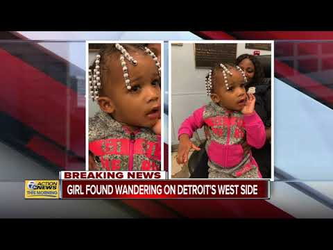 Detroit police look for parents of little girl found wandering late Thursday night