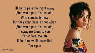 Mark Ronson   FIND U AGAIN (Lyrics) Ft. Camila Cabello