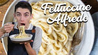 WORLD'S CREAMIEST FETTUCCINE ALFREDO | Chef Eitan Bernath