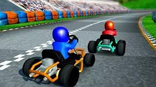 RUSH KART RACING 3D | Car Racing Video Game | Free Car Racing Games For Kids - Car Games Videos