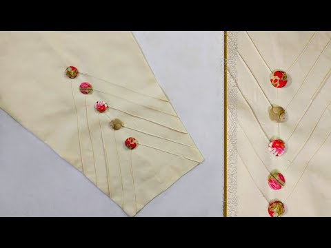 Beautiful tuks trouser design for kurti   Step by step   The Latest Design