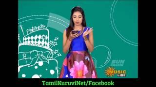 Sun Music Vaazthukkal,show Vj Niveditha& HD Video 05-08- 2016 Part -1