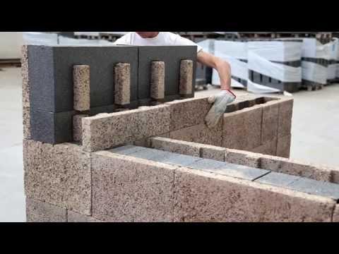 Posa blocchi cassero in legno cemento Isotex