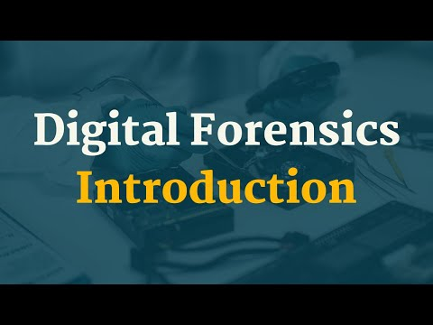 Digital Forensics Tutorial 1 - An Introduction - YouTube