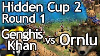 AoE2 Hidden Cup #2 | Genghis Khan vs Ornlu the Wolf! Round of 16!
