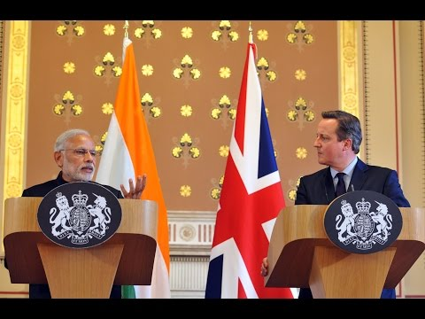 PM Modi's statement to the media with PM of United Kingdom David Cameron at Joint Press Briefing