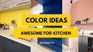 65+ Awesome Color Ideas For Kitchen From Pinterest