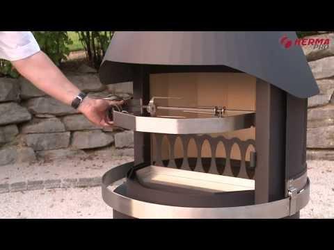 HERMAPRO Gartenkamine  - Gartenkamin - Eine ideale Kombination aus Grill- & Terrassenkamin