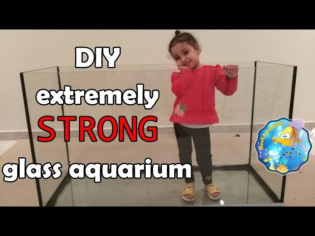 HOW TO: Build an Aquarium Glass With Extremely Strong BOTTOM (120g Reef Tank Setup E1)