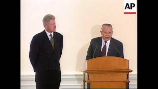 Hong Kong - Clinton on state visit