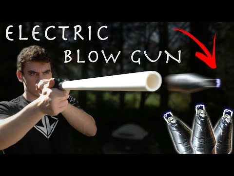 How To Make a $10 Electric Blow Dart!!! (Cheap Simple Build)