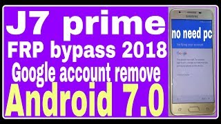 How to bypass google account on huawei Y3 2018/2017 Y5 2017