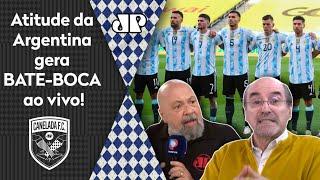 'A Argentina agiu, sim, de má fé': Suspensão de jogo do Brasil gera bate-boca